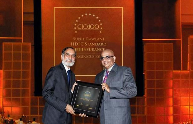 The Ingenious 100: Sunil Rawlani, EX. EVP of HDFC Life Insurance receives the CIO100 Award for 2009