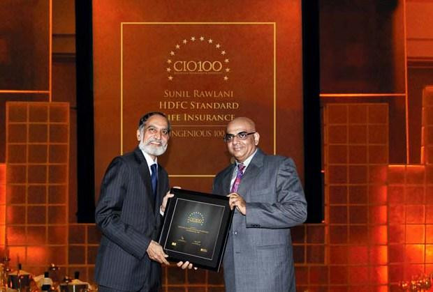 The Ingenious 100: Sunil Rawlani, EX. EVP of HDFC Life Insurance receives the CIO100 Award for 2009