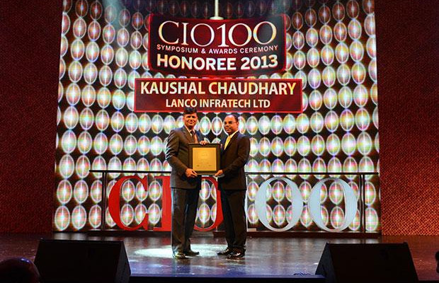 The Astute 100: K K Chaudhary, Sr. VP & Group Head IT of Lanco Infratech receives the CIO100 Award for 2013