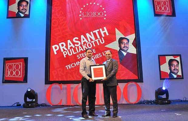 The Transformative 100: Prasanth Puliakottu, CIO of Sterlite Technologies receives the CIO100 Award for 2016