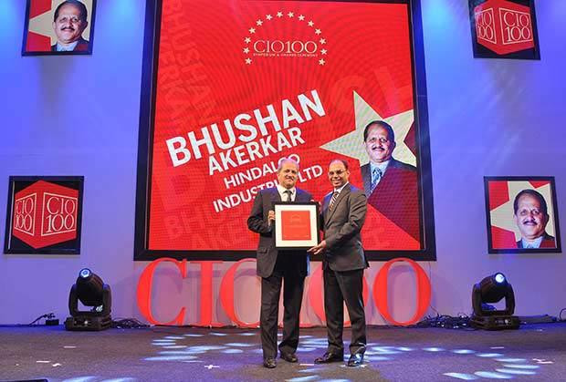 The Transformative 100: Bhushan Akerkar, CIO of Hindalco Industries receives the CIO100 Award for 2016