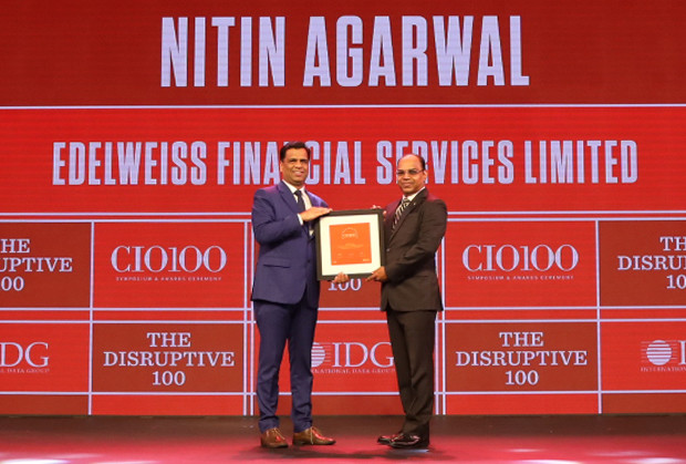 The Disruptive 100: Nitin Agarwal, President and Group CIO, Edelweiss Financial Services receives the CIO100 Award for 2019