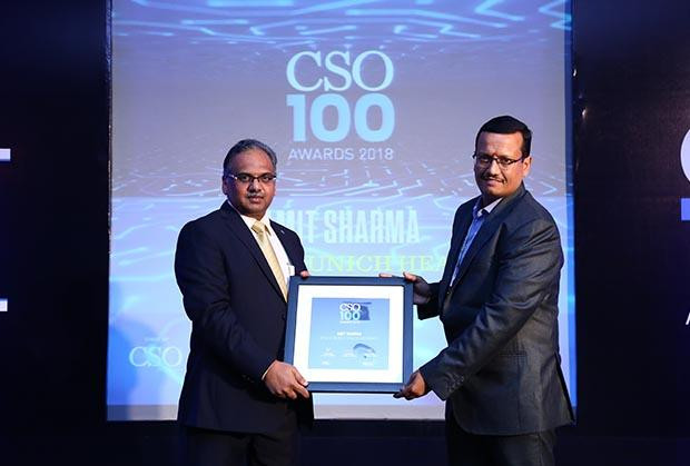 Amit Sharma, Assistant Vice President & CISO, Apollo Munich Health Insurance receives the CSO100 Award for 2018