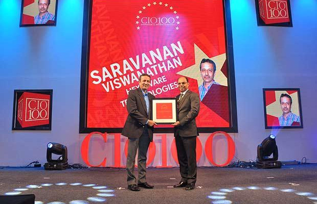 The Transformative 100: Saravanan Viswanathan, Head-Internal Systems and Technology of Hexaware Technologies receives the CIO100 Award for 2016