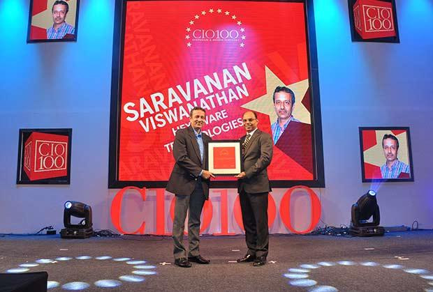 The Transformative 100: Saravanan Viswanathan, Head-Internal Systems and Technology of Hexaware Technologies receives the CIO100 Award for 2016