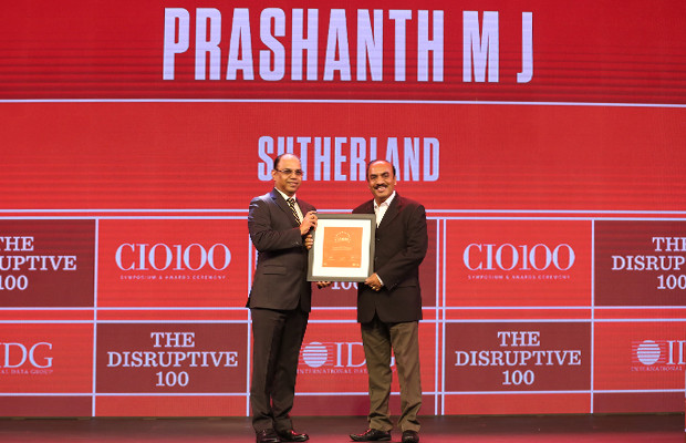 The Disruptive 100: Prashanth M J, Senior VP – IT Infrastructure, Sutherland Global Services receives the CIO100 Award for 2019