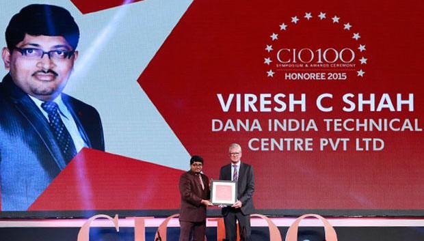 The Versatile 100: Viresh Shah, Country Head-IT, Dana Holding receives the CIO100 Award for 2015
