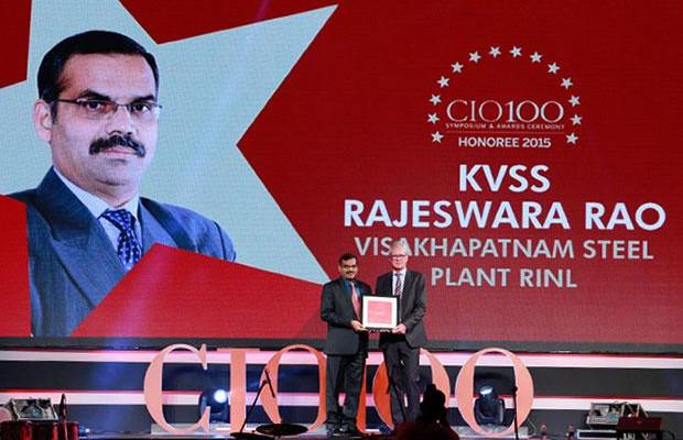 The Versatile 100: K V S S Rajeswara Rao, GM - IT at Visakhapatnam Steel Plant, RINL receives the CIO100 Award for 2015