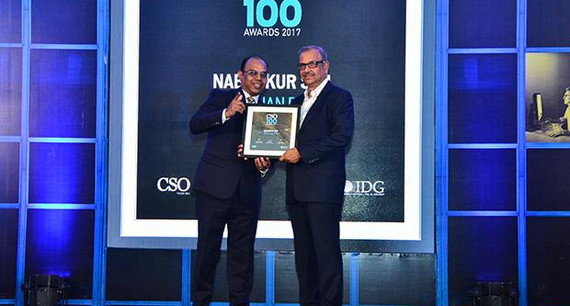 Nabankur Sen, Chief Information Security Officer, Bandhan Bank receives the CSO100 Award for 2017