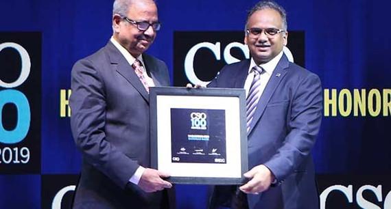Nabankur Sen, Advisor Information Security Officer, Bandhan Bank receives the CSO100 Award for 2019