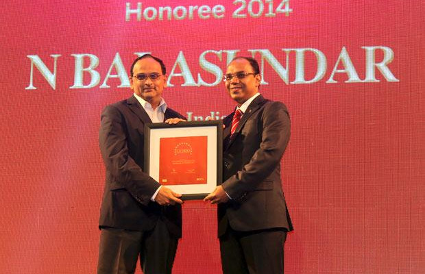 The Dynamic 100: Balasundar Natarajan, CIO of ABB India receives the CIO100 Award for 2014