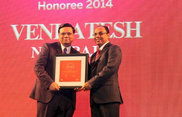 The Dynamic 100: Venkatesh Natarajan, Special Director-IT of Ashok Leyland receives the CIO100 Award for 2014