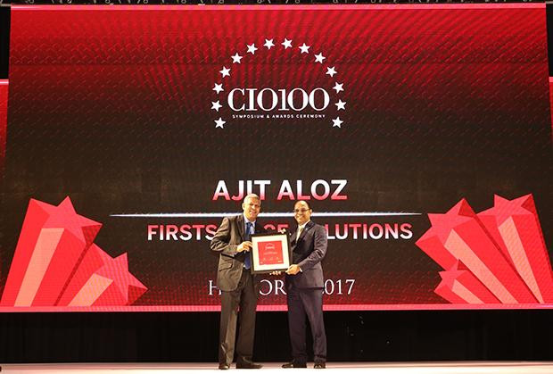 The Digital Innovators: Ajith Aloz, Sr. Vice-President - Technology, Firstsource Solutions receives the CIO100 Award for 2017