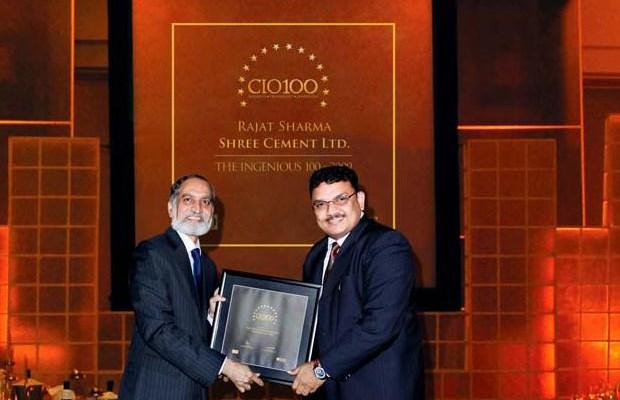 The Ingenious 100: Rajat Sharma, Senior GM-IT of Shree Cement receives the CIO100 Award for 2009
