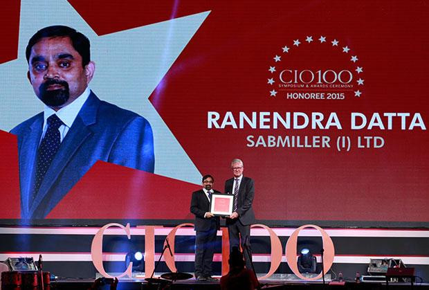 The Versatile 100: Ranendra Datta, Vice President and CIO, SABMiller India receives the CIO100 Award for 2015.
