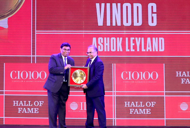 Hall of Fame: Vinod G, Head of Digital and Chief Digital Architect, Ashok Leyland receives the CIO100 Special Award for 2019