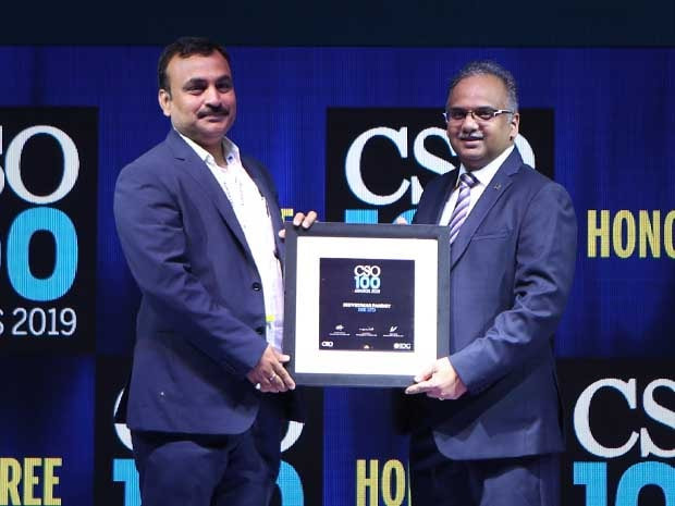 Shivkumar Pandey, CISO at BSE felicitated with the CSO100 Award for 2019