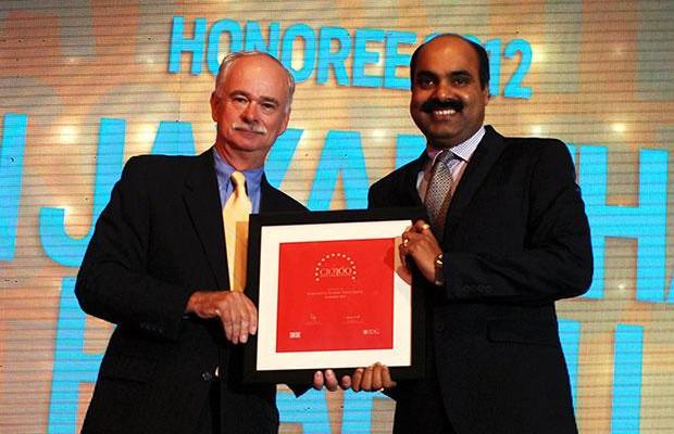 The Resilient 100: Jayantha Prabhu, CTO, Essar Group receives the CIO100 Award for 2012