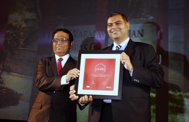 The Agile 100: N Vardharajan, AVP IT, The Ramco Cements receives the CIO100 Award for 2010