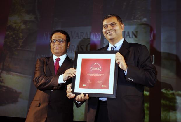 The Agile 100: N Vardharajan, AVP IT, The Ramco Cements receives the CIO100 Award for 2010