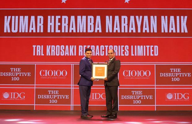 Kumar Heramba Narayan Naik, Senior General Manager (ICT) and CIO at TRL Krosaki Refractories receives the CIO100 Award for 2019