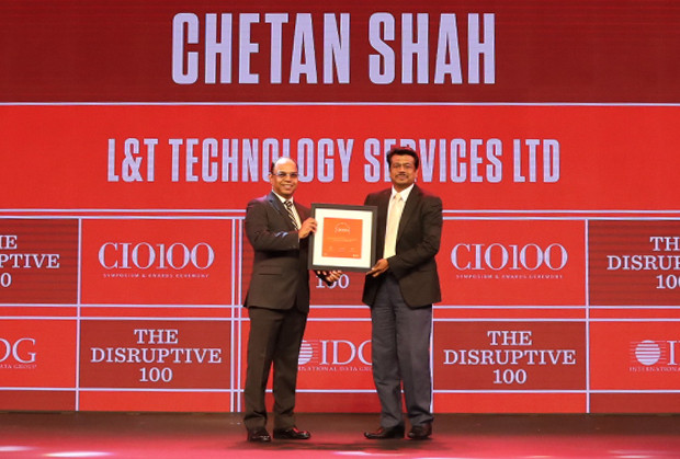 The Disruptive 100: Chetan Shah, Global Head – IT Infrastructure, L&T Technology receives the CIO100 Award for 2019