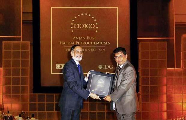 The Ingenious 100: Anjan Bose, Head IT of Haldia Petrochemicals receives the CIO100 Award for 2009
