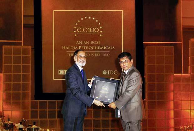 The Ingenious 100: Anjan Bose, Head IT of Haldia Petrochemicals receives the CIO100 Award for 2009