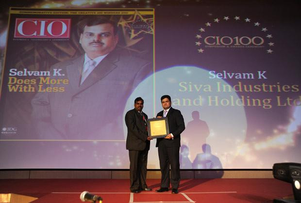 The Creative 100: Selvam K K, Group CIO of Siva Industries and Holdings receives the CIO100 Award for 2011