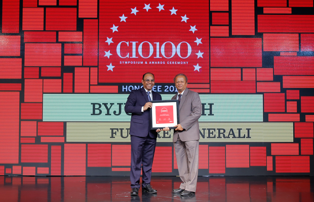 The Digital Architect: Byju Joseph, CTO at Future Generali receives the CIO100 Award for 2018