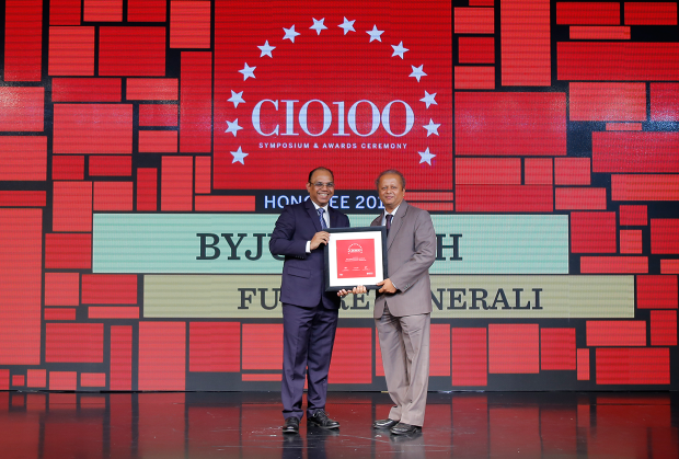 The Digital Architect: Byju Joseph, CTO at Future Generali receives the CIO100 Award for 2018