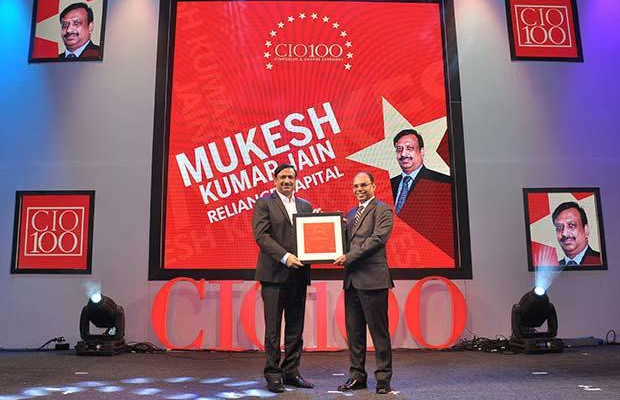 The Transformative 100: Mukesh Kumar Jain, Group CIO of Reliance Capital receives the CIO100 Award for 2016