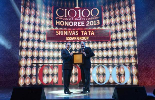 The Astute 100: Srinivas Tata, CIO-Project Business Group, Essar Projects India, receives the CIO100 Award for 2013