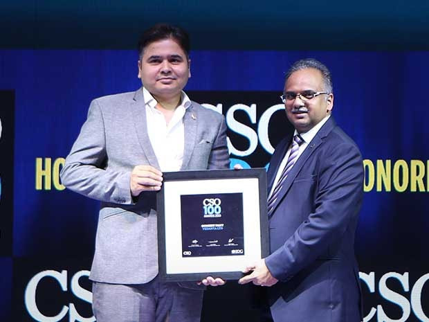 Gomeet Pant, Cybersecurity Leader from Vedanta Ltd, receives the CSO100 Award for 2019