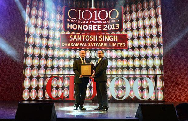 The Astute 100: Santosh Singh, AVP IT of DS Group receives the CIO100 Award for 2013
