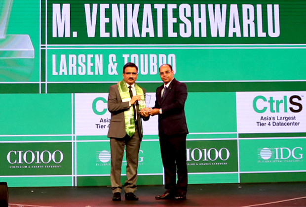 Business Transformer: M Venkateshwarlu, Joint General Manager - Corporate IT, Larsen & Toubro receives the CIO100 Special Award for 2019