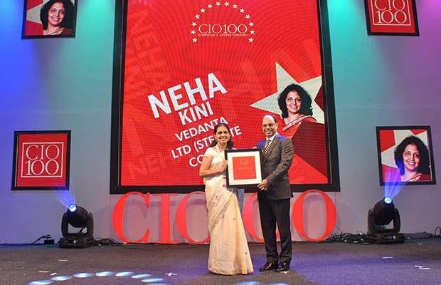 The Transformative 100: Neha Kini, Head-IT of Vedanta Sterlite Copper receives the CIO100 Award for 2016