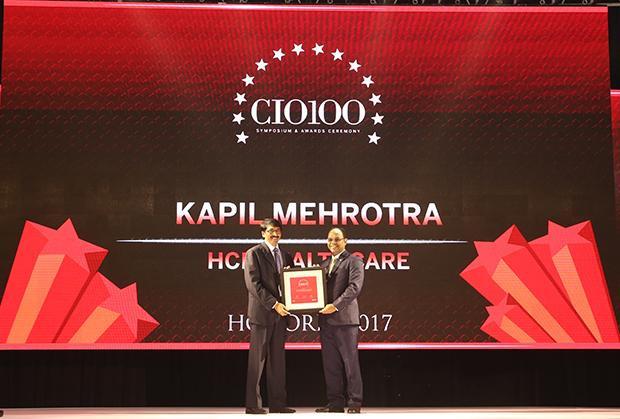 The Digital Innovators: Kapil Mehrotra, Head IT, HCL Healthcare receives the CIO100 Award for 2017
