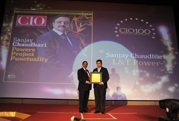 The Creative 100: Sanjay Chaudhari, Head-IT of L&T Power Development receives the CIO100 Award for 2011