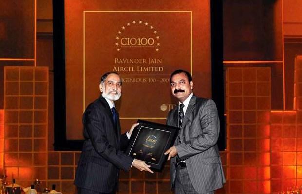 The Ingenious 100: Ravinder Jain, CIO of Aircel receives the CIO100 Award for 2009