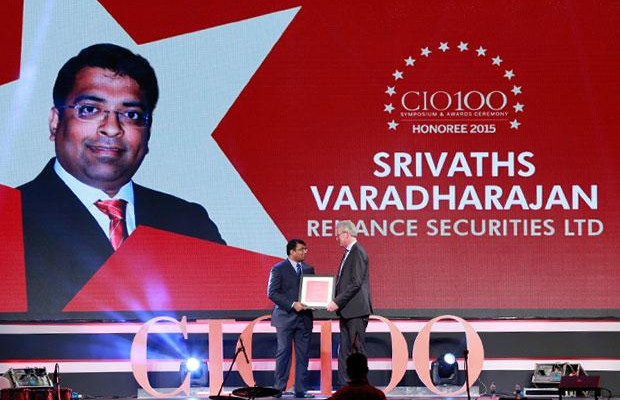 The Versatile 100: Srivaths Varadharajan, CTO, Reliance Securities receives the CIO100 Award for 2015