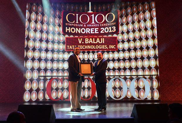 The Astute 100: V Balaji, CIO of Tata Technologies receives the CIO100 Award for 2013