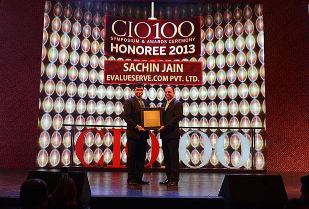 The Astute 100: Sachin Jain, CIO & CSO, Evalueserve receives the CIO100 Award for 2013