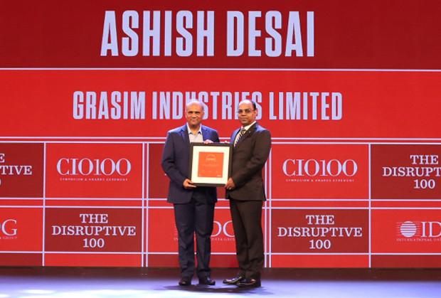 The Disruptive 100: Ashish Desai, Vice President IT and CIO - Chemical Division, Grasim Industries (Aditya Birla Group) receives the CIO100 Award for 2019
