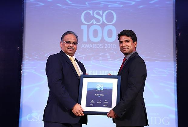 Rajeev Verma, Deputy General Manager – Information Security at SRF receives the CSO100 Award for 2018