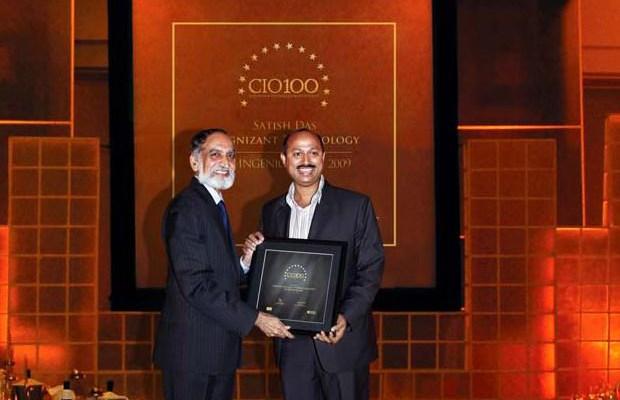 The Ingenious 100: Satish Kumar Das, CSO & VP, Cognizant Technology Solutions India receives the CIO100 Award for 2009.