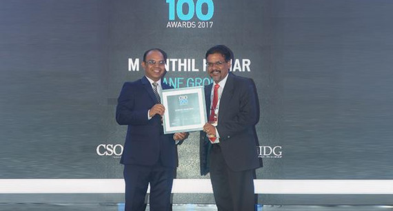 Senthil Kumar, CISO at Rane Group receives the CSO100 Award for 2017