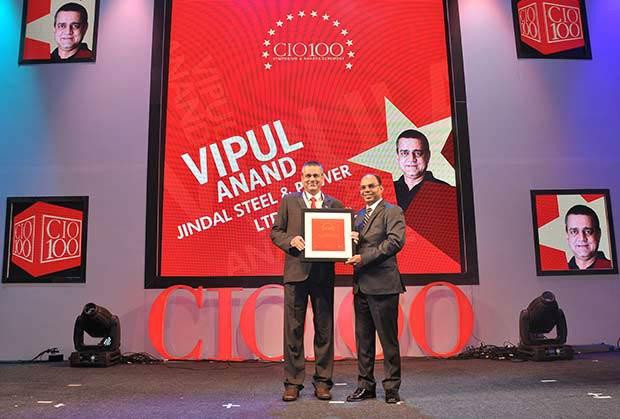 The Transformative 100: Vipul Anand, Group CIO of Jindal Steel and Power receives the CIO100 Award for 2016