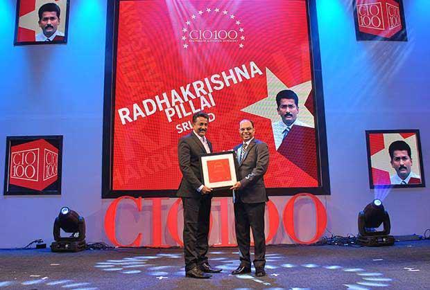 The Transformative 100: Radhakrishna Pillai, CIO of SRL receives the CIO100 Award for 2016