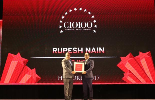 The Digital Innovators: Rupesh Nain, CIO of JCB India receives the CIO100 Award for 2017